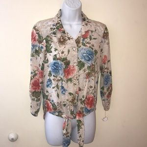 Long sleeve floral blouse by Charlotte Russe